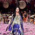O florido foi o grande destaque do desfile da  designer Camilla Franks