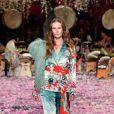 A designer Camilla Franks fez desfile inspirado em suas viagens ao Japão show de encerramento no Mercedes Benz Fashion Week na quinta-feira, 17 de maio de 2018