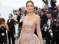 Brilho no red carpet: Alessandra Ambrosio elege longo com paetê em Cannes