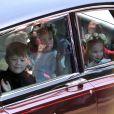 A princesa Charlotte foi uma das daminhas de honra do casamento de Meghan Markle e do príncipe Harry