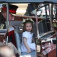 A princesa Charlotte chegou para o casamento de Meghan Markle e do príncipe Harry