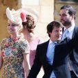Sofia Wellesley, mulher do cantor James Blunt, foi outra a apostar em estampa floral para o casamento do príncipe Harry com Meghan Markle