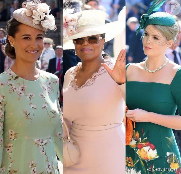 Elegância e estilo clássico ditaram os looks do casamento de Meghan Markle com o príncipe Harry