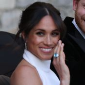 Meghan Markle usa anel da princesa Diana em recepção de casamento com Harry