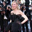 Cate Blanchett usou macacão preto na exibição de 'Capharnaüm', na 71ª edição do Festival de Cannes, no Palais des Festivals na última quinta-feira, 17 de maio de 2018
