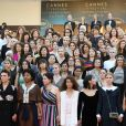A imagem das manifestantes ilustres entrou para a história do festival de Cannes