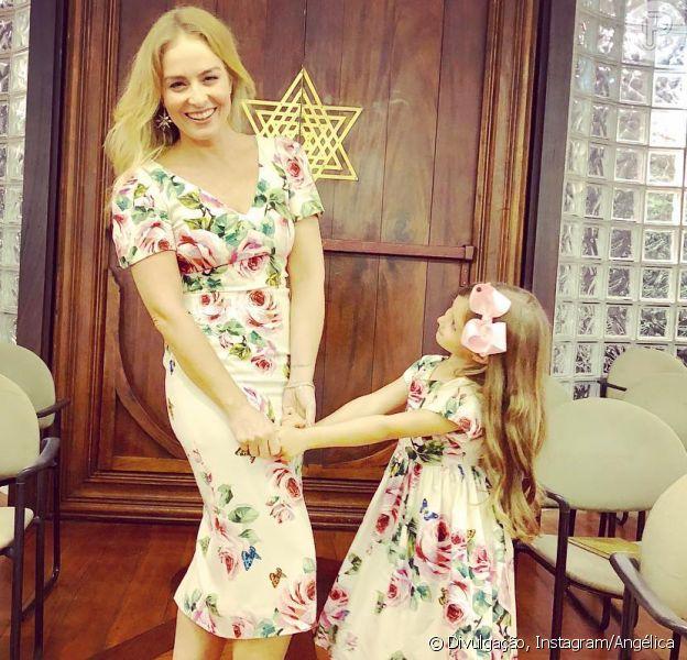 Angélica e a filha, Eva, combinam looks florais Dolce & Gabbana em foto postada nesta terça-feira, dia 22 de maio de 2018