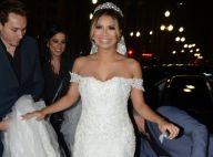 Lexa usa vestido bordado com cristais Swarovski em casamento com Guimê. Fotos!