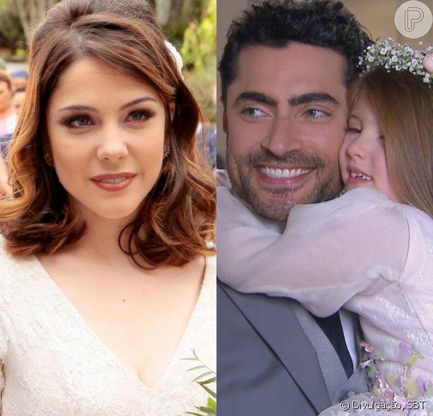 Cecília (Bia Arantes) confirma gravidez a Gustavo (Carlo Porto) e Dulce Maria (Lorena Queiroz) se alegra com a chegada de um bebê no capítulo que vai ao ar terça-feira, dia 29 de maio de 2018, na novela 'Carinha de Anjo'