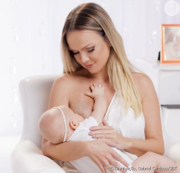 Eliana se habituou a amamentar filha, Manuela, em público, como contou em entrevista a 'Crescer' publicada nesta quarta-feira, dia 23 de maio de 2018