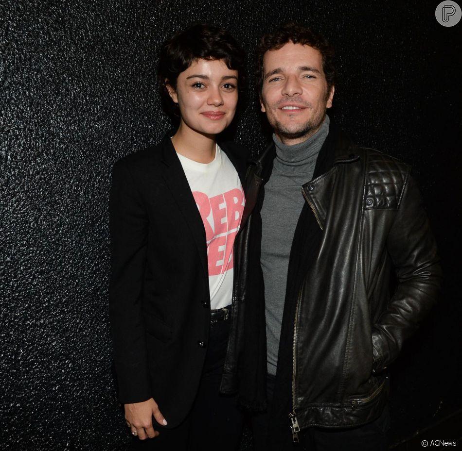 Sophie Charlotte e o marido, Daniel de Oliveira, conferiram a turnê 'Ofertório' de Caetano Veloso no Espaço das Américas, em São Paulo, nesta sexta-feira, 25 de maio de 2018