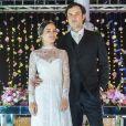 Bianca Bin e Sergio Guize viveram o casal Clara e Gael na primeira fase da novela 'O Outro Lado do Paraíso'