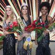 Mayra Dias, do Amazonas, entrou para o top 3 do Miss Brasil com  Teresa Santos, do Ceará, e Maria Isabel, da Bahia
