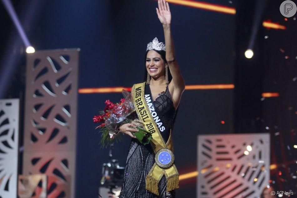 Mayra Dias, representante do Amazonas, foi coroada Miss Brasil 2018