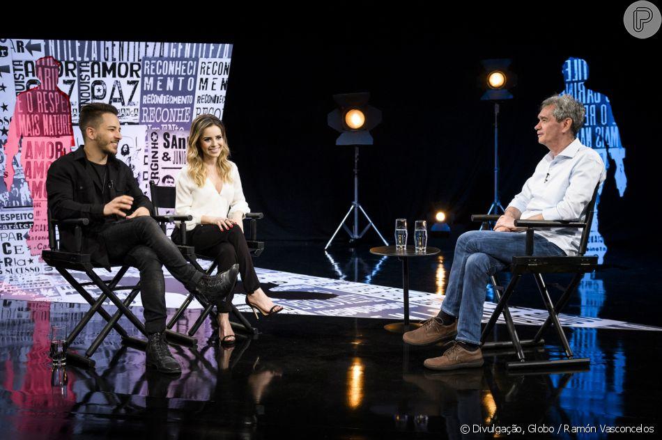 Sandy e Junior foram os primeiros convidados do quadro 'Linha do Tempo', do programa 'Altas Horas' de sábado, 26 de maio de 2018