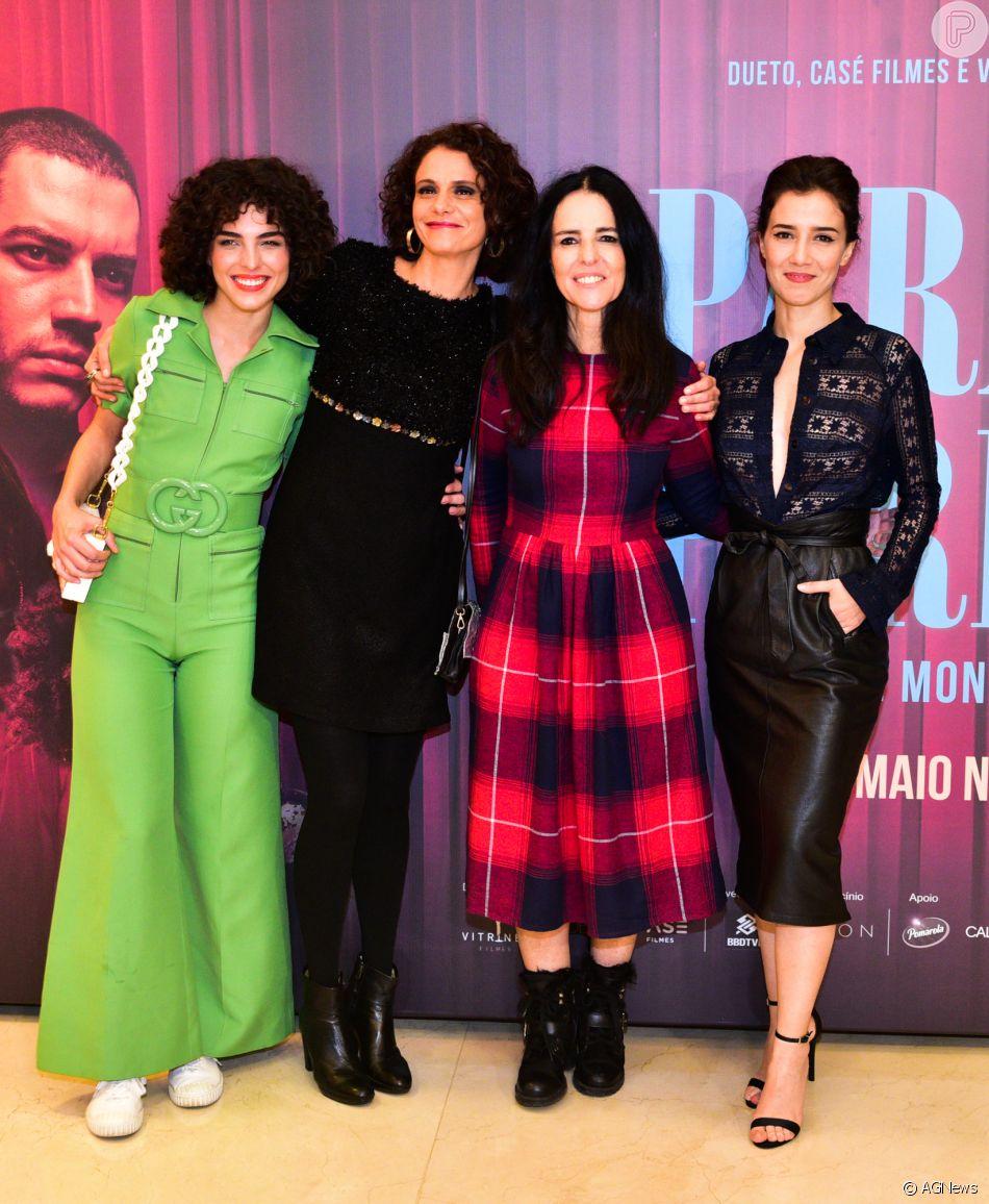 Julia Konrad, Malu Galli, Monique Gardenberg e Marjorie Estiano na  pré-estreia do filme  Paraíso Perdido , em São Paulo, nesta segunda-feira,  ... 0c4c8ece11
