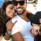 Juliana Paes se diverte com filhos, Antônio e Pedro, e marido em feriado no Rio