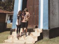 Bruno Gissoni e Yanna Lavigne curtem viagem com a filha, Madalena, e a família