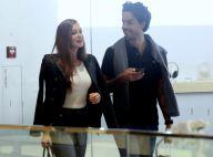 Marina Ruy Barbosa e o marido, Xande Negrão, passeiam por shopping do Rio. Fotos