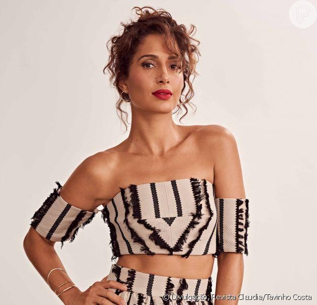 Camila Pitanga dispensa rivalidade entre atrizes em entrevista divulgada nesta segunda-feira, dia 04 de junho de 2018