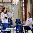 Raquel (Isabella Moreira) briga com Brenda (Flavia Pavanelli) por causa de Guilherme (Lawrran Couto), no capítulo que vai ao ar quarta-feira, dia 13 de junho de 2018, na novela 'As Aventuras de Poliana'