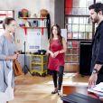 Débora (Lisandra Cortez) flagra Marcelo (Murilo Cezar) conversando sozinho com Luísa (Milena Toscano), no capítulo que vai ao ar quarta-feira, dia 13 de junho de 2018, na novela 'As Aventuras de Poliana'
