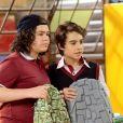 Éric (Lucas Burgatti) e Hugo (Henry Fiuka) são levados para a coordenação ao serem flagrados por Marcelo (Murilo Cezar) praticando bullying com Luigi (Enzo Krieger), no capítulo que vai ao ar quinta-feira, dia 14 de junho de 2018, na novela 'As Aventuras de Poliana'