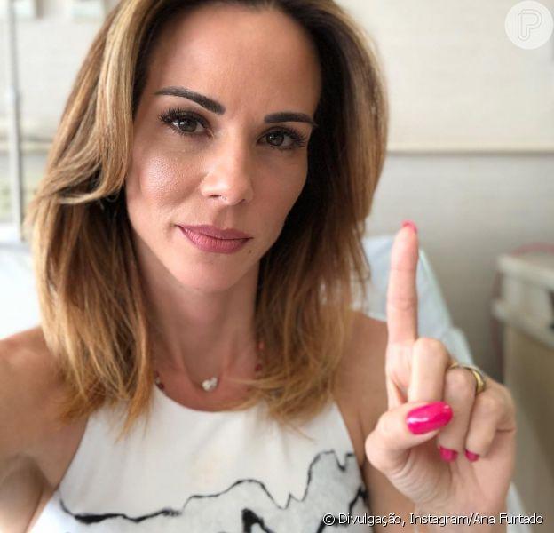 Ana Furtado realiza 1ª sessão de quimioterapia ao tratar câncer nesta segunda-feira, dia 05 de junho de 2018