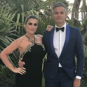 Otaviano Costa chora ao homenagear Flávia Alessandra: 'Amor maior que maldade'