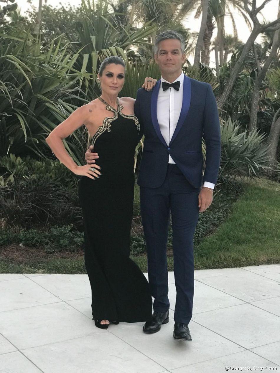 Otaviano Costa chorou ao homenagear a mulher, Flávia Alessandra, em aniversário da atriz nesta quinta-feira, dia 07 de junho de 2018