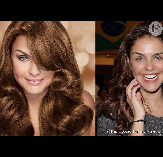 Paloma Bernardi clareou os fios em uma nova campanha de tintas de cabelo