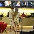 Susana Werner e Julio Cesar aproveitaram a tarde desta quarta-feira, 23 de julho de 2014, em um shopping na Barra da Tijuca, Zona Oeste do Rio de Janeiro