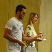Susana Werner e Julio Cesar assistem a filme em cinema, no Rio