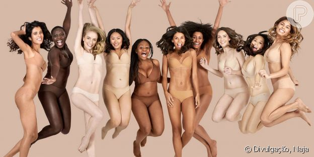 A californiana Naja tem 7 cores diferentes de nude