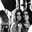 Isabelli Fontana posa com Kendall Jenner, irmã de Kim Kardashian, na Semana de Moda de Nova York