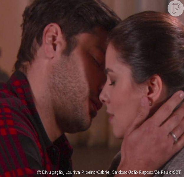 Nos próximos capítulos da novela 'As Aventuras de Poliana', Afonso (Victor Pecoraro) estará esperando por Luísa (Thais Melchior) em sua casa e a beijará