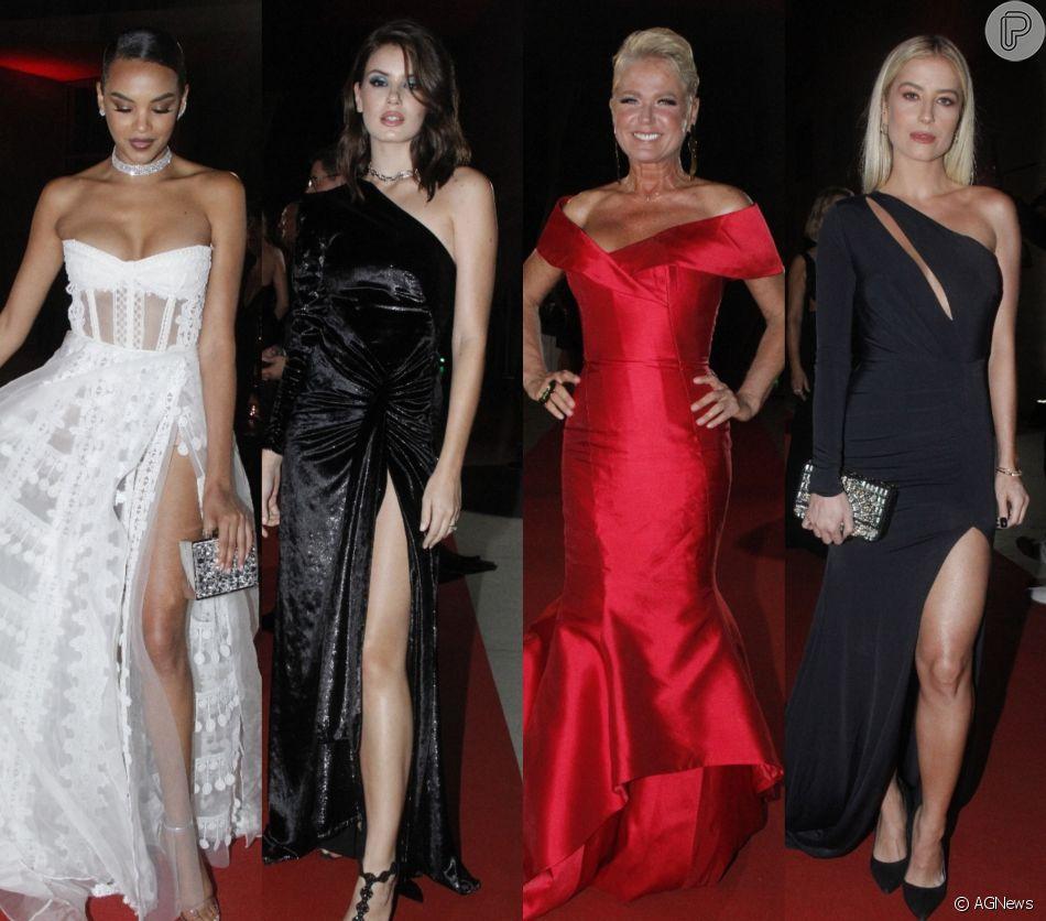 Veja fotos dos looks das famosas na festa de comemoração dos 25 anos da revista 'Caras', realizada na Cidade das Artes, na Barra da Tijuca, zona oeste do Rio de Janeiro, na noite desta quinta-feira, 29 de novembro de 2018