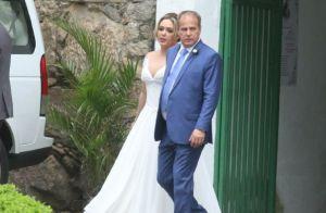 Tânia Mara e Jayme Monjardim se casam em cerimônia religiosa