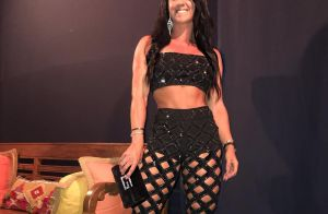 Graciele Lacerda elege top e calça vazada para show de Zezé di Camargo. Foto!