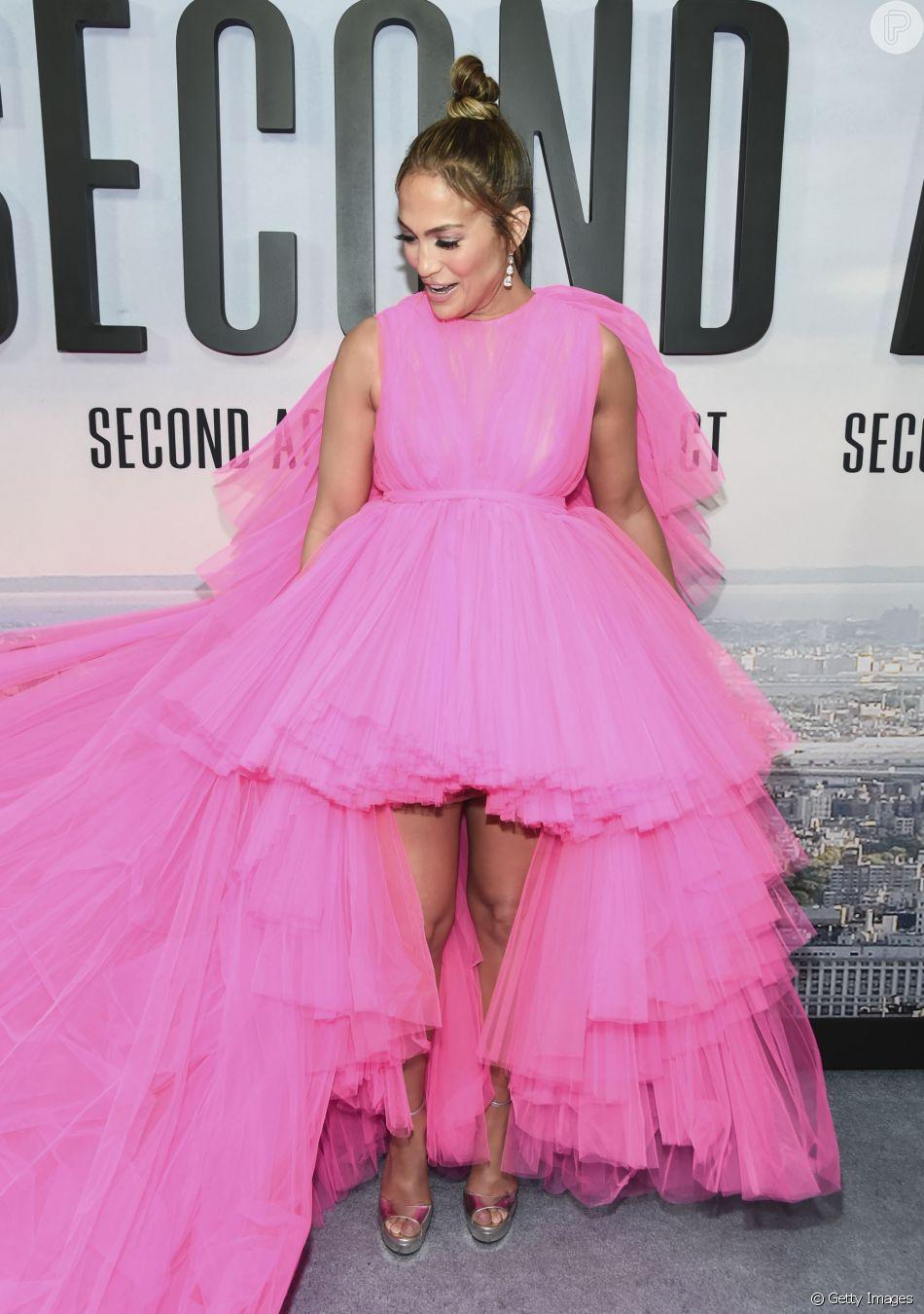 Mais Curto Na Frente E Com Muitos Babados O Vestido Rosa De