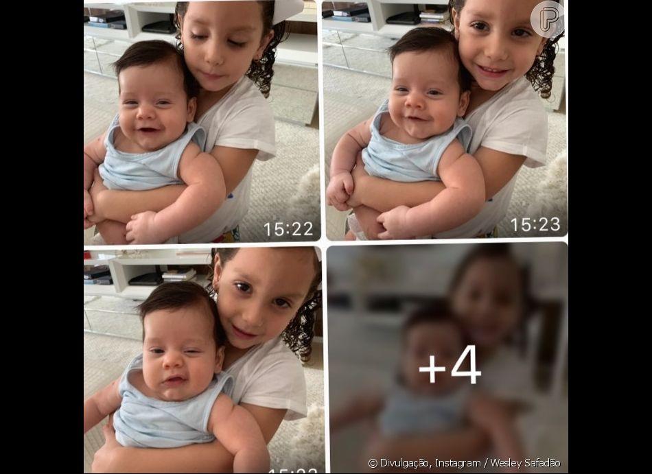 Wesley Safadão mostrou o filho Dom no colo da irmã, Ysis, e fãs apontaram 44f48c8844