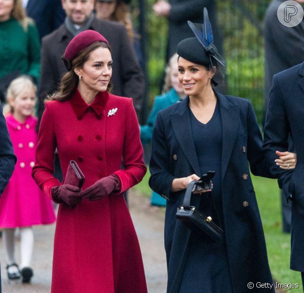 Kate Middleton, Meghan Markle e a família real juntam-se à rainha Elizabeth II em tradicional missa de Natal, realizada na Igreja de Santa Maria Madalena, na Inglaterra, nesta terça-feira, 25 de dezembro de 2018
