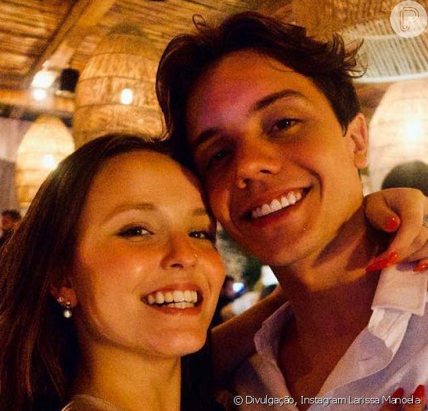 Larissa Manoela e Leo Cidade passaram primeiro réveillon juntos, nesta terça-feira, 1º de janeiro de 2019: 'Você me completa'