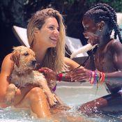 Giovanna Ewbank mostra a filha, Títi, adestrando filhote de pet: 'É muito amor'
