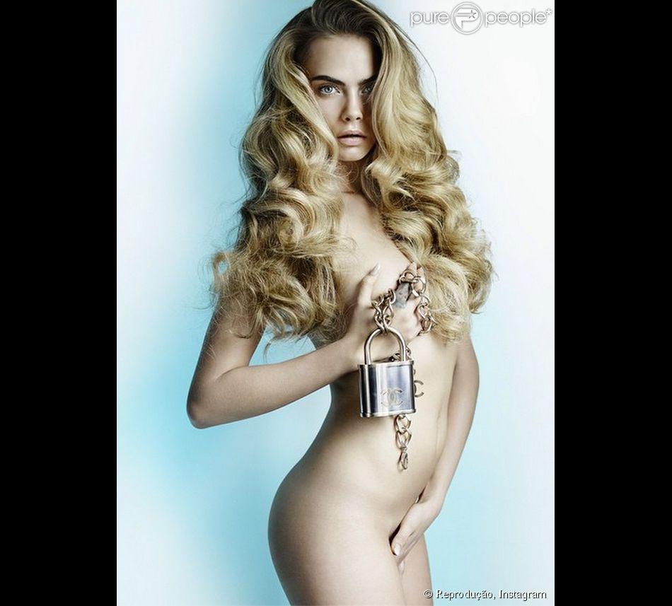 Cara Delevingne posa completamente nua para a revista  Allure Magazine  43524d0a75