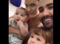 Andressa Suita e Gusttavo Lima curtem filhos após viagem romântica. Vídeo!