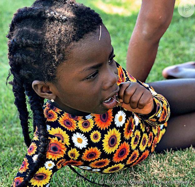 Giovanna Ewbank contou história curiosa de foto da filha, Títi, de 5 anos