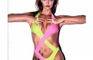 Fernanda Lima faz pose sensual com maiô decotado e deixa tatuagem à mostra