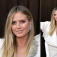 Looks do Grammy Awards 2019: Heidi Klum  apostou em um vestido branco e acessórios metalizados