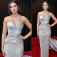 Looks do Grammy Awards 2019: Dua Lipa em look prateado